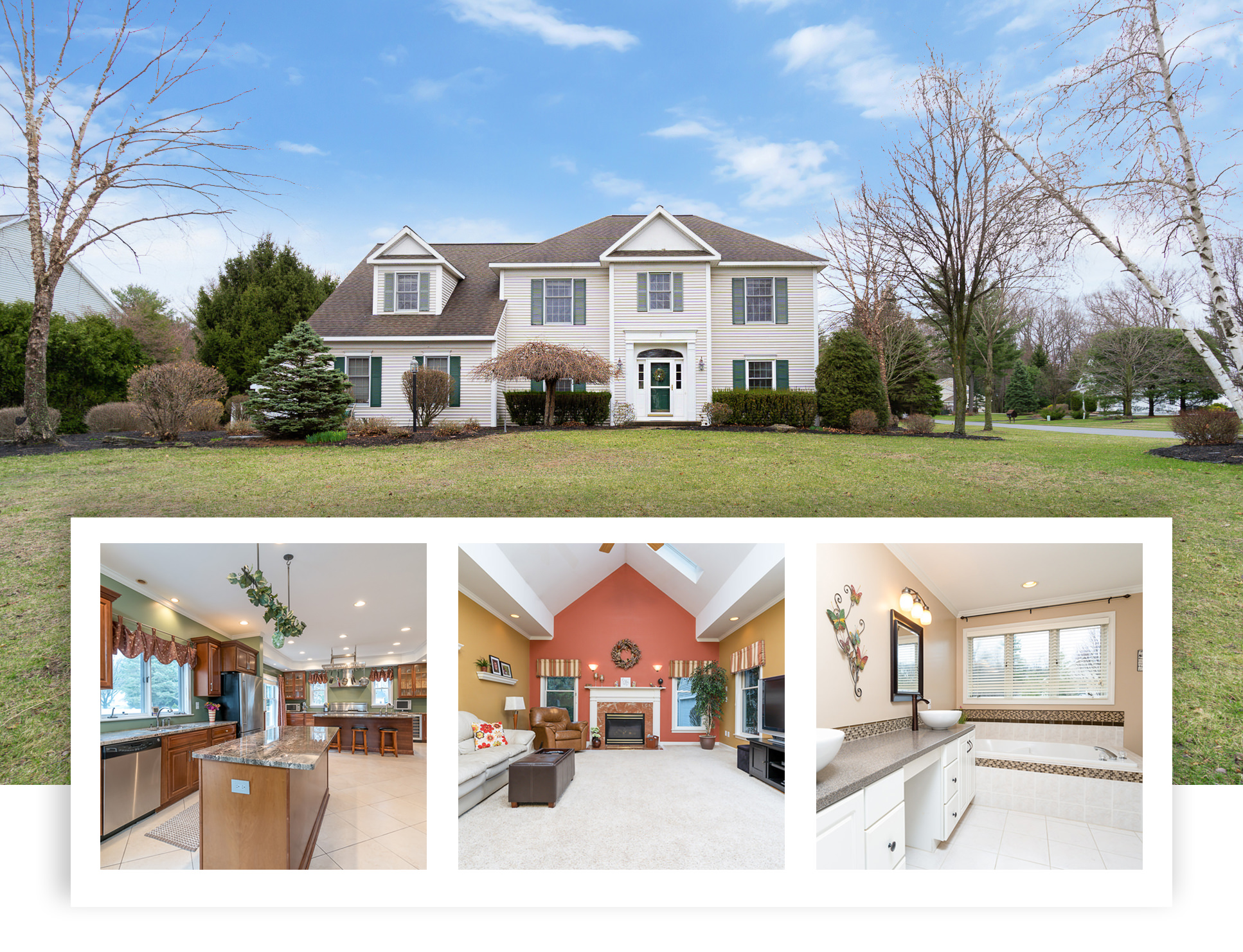Spacious Glenmont New York Colonial Home for Sale in Bethlehem School District on Corner Lot
